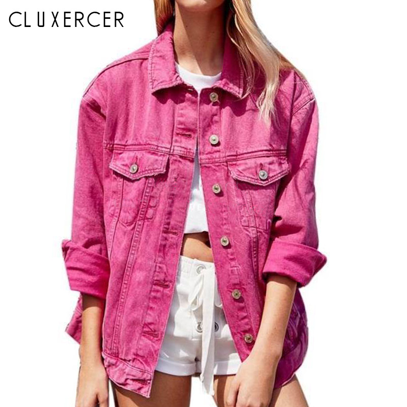 Befree denim jacket for women 2018 Autumn Womens Jackets and Coats Rose red casual women summer jackets casaco feminino