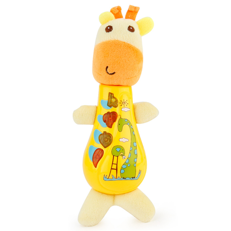 New Arrival Cute Animal Shapes Music Sound Giraffe Baby Sleeping Somfort Toys Calm Doll For Comforting Baby Kids Toys Drop Ship