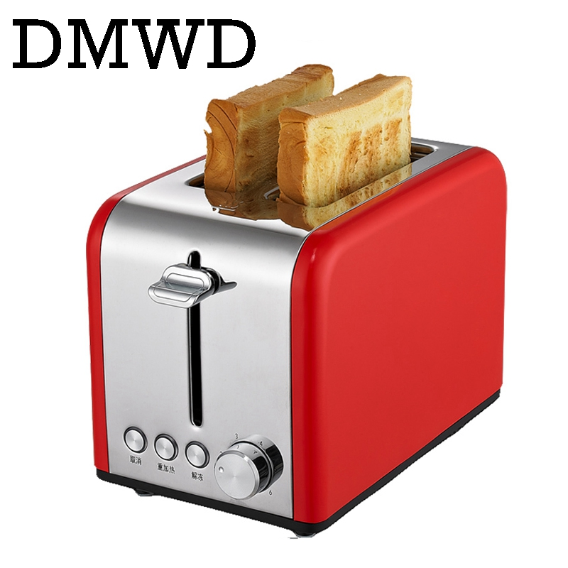 DMWD MINI Household bread maker electrical toaster cake Cooker 2 slices Pieces automatic breakfast toasting baking machine EU US cukyi 2 slices bread toaster household automatic toaster breakfast spit driver breakfast machine