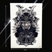 Japanese Samurai Warrior Temporary Tattoo Sticker For Men Women Body Art Tatoo Waterproof Fake Arm Back Tattoo Stickers PHB-194