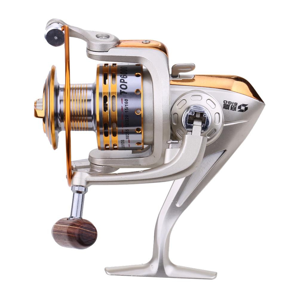 Metal 5.1:1 Metal Spinning Fishing Reels 8 Ball Bearings Foldable Hand Exchangable Carp Fishing Reels Fish Accessories