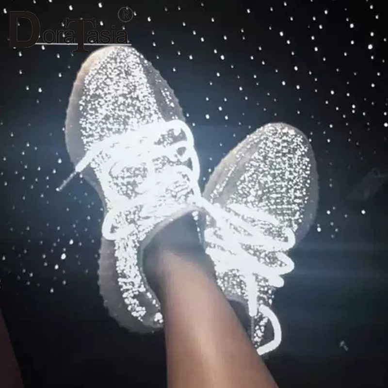 DORATASIA 2019 nouvelle marque d'été Design femmes éclairage maille baskets doublure en cuir grande taille 35-43 plate-forme chaussures femme