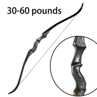60inch Recurve Bow American Hunting Bow Outdoor Shooting Takedown Recurve Bow 30 35 40 45 50 55 60 pounds