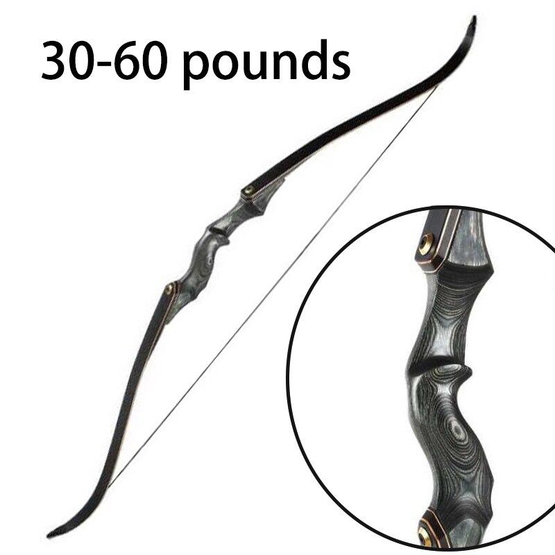 Arc classique de 60 pouces arc de chasse américain tir en plein air arc classique 30 35 40 45 50 55 60 livres