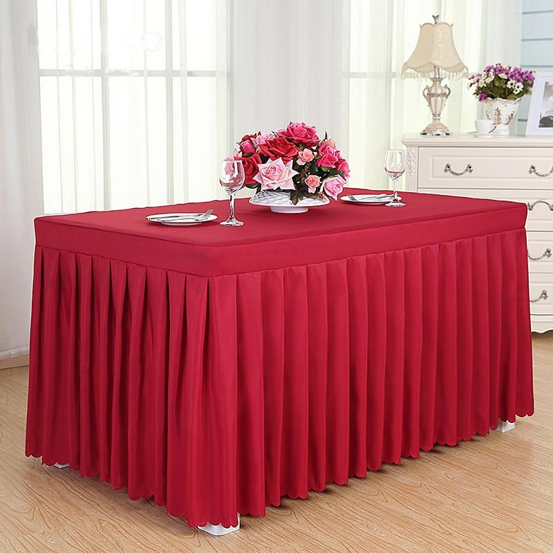 ROMANZO Solid Color Fabric Rectangle Conference Table Cover Office - Conference table covers
