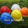V-tipo de PE tapa de color de trabajo casco de seguridad de protección de trabajo ingeniero de la construcción del sitio de trabajo casco de seguridad casco de envío gratis