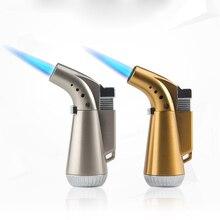 купить Torch Turbo Lighter Metal Butane Cigar Lighter Elbow Gas Cigarette 1300 C Windproof Lighter Smoking Accessories дешево