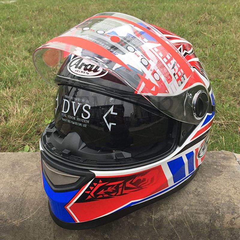 ARAI Motorcycle helmet casco de moto cafe racer helmet Full Face dual lens visor capacetes de motociclista,Capacete