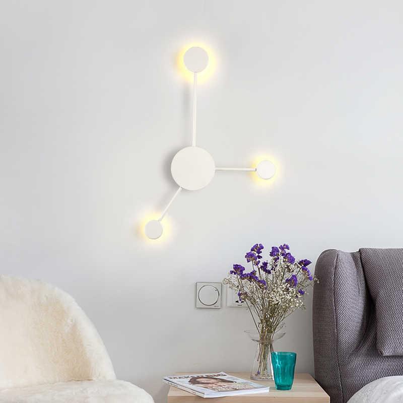 Современный светодиодный настенный светильник черного/золотого/белого цвета для гостиной, спальни, прикроватной тумбочки, скандинавские декоративные дизайнерские настенные светильники для коридора, отеля