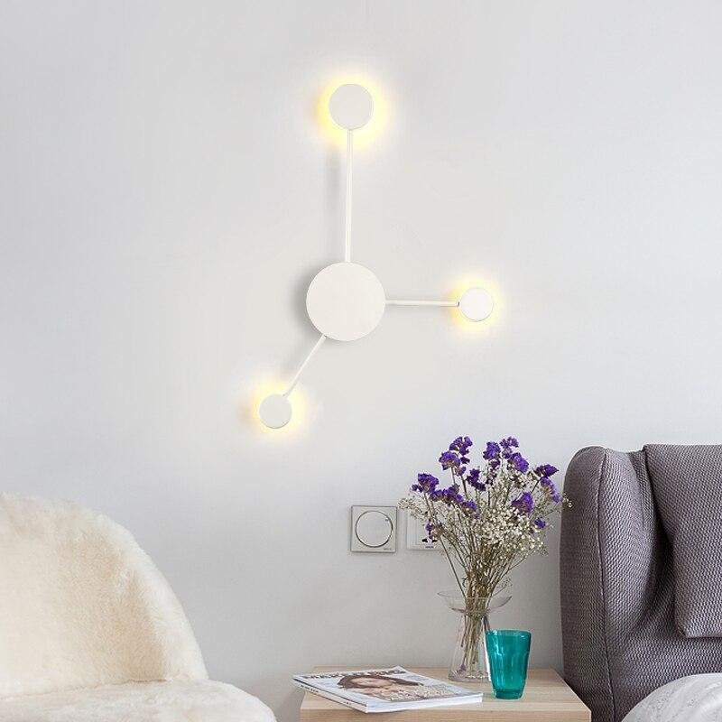 preto ouro branco moderno led lampadas 03