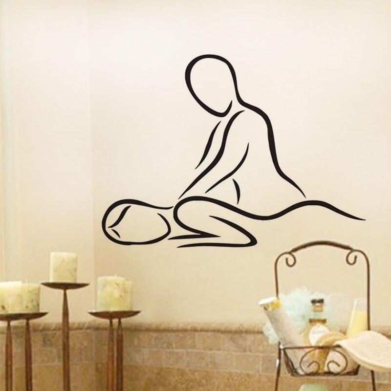 Spa Salon Kecantikan Dinding Decals Vinyl Perekat Stiker Dekorasi Rumah Gadis Pijat Stiker Dinding Modern