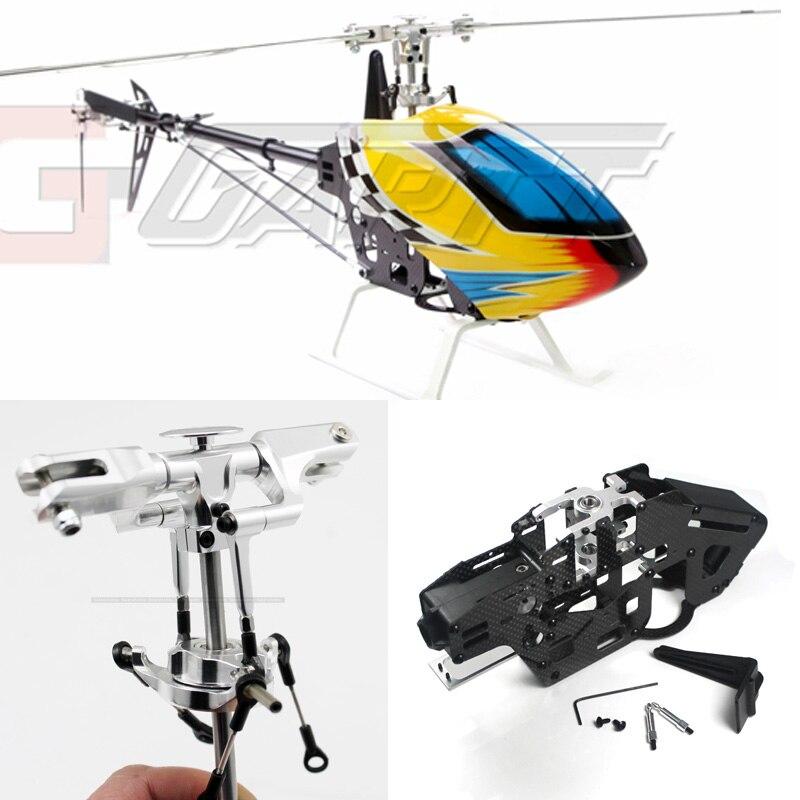 GARTT 450 DFC Double courroie de poussée 6CH 3D hélicoptère RC avec auvent et lames
