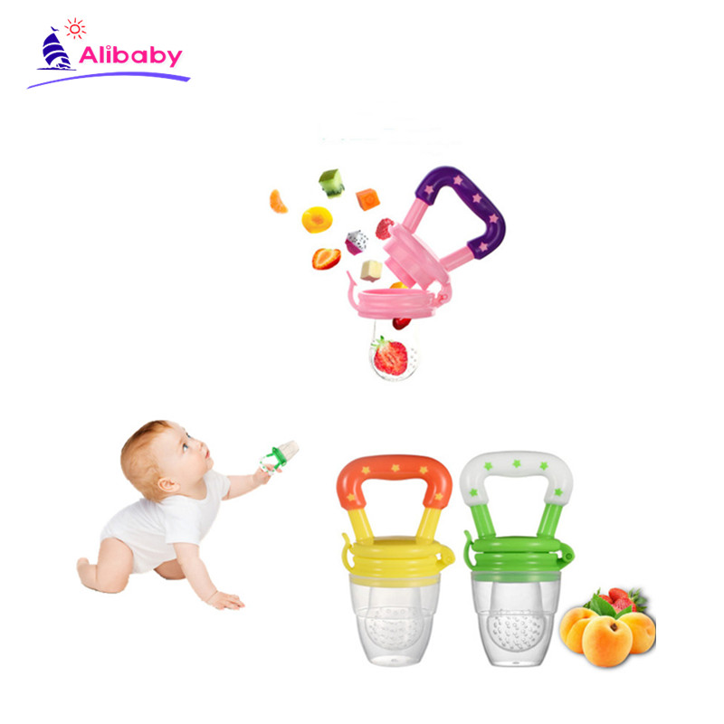 Fresh baby Food Nipple Feeder Silicone Pacifier Fruits Feeding Supplies Soother Nipples Feeding Tool Pacifier kids try to eat