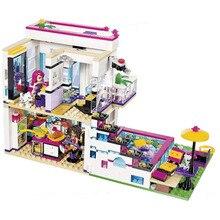 760pcs Building Blocks Minecraft Plastic Block Compatible The Girl Singer Livi's Pink WarmHome Toys For Children