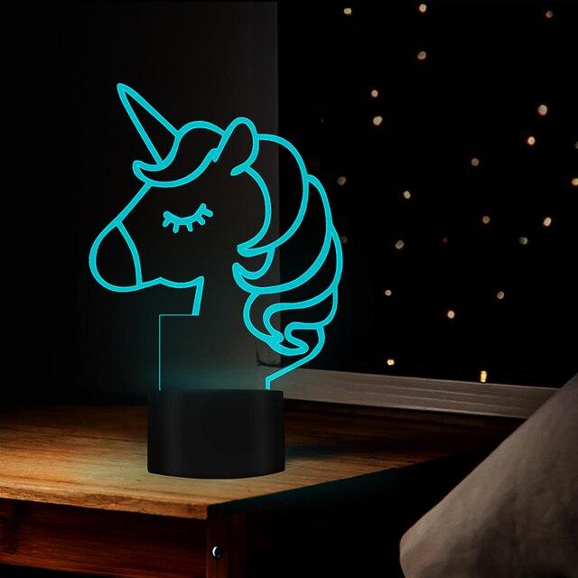 3D Unicorn Led Night Light