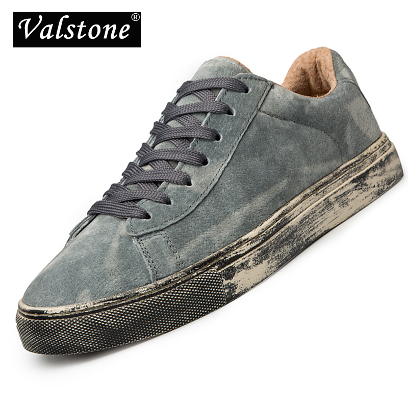 Valstone 2018 Luxury Genuine Leather Sneakers Men Autumn Casual shoes Rubber footwear Male fashion hip hop
