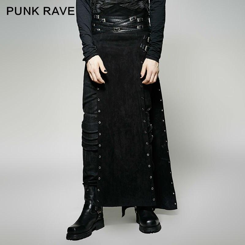 US $78.0  Neue Punk Rave Gothic Rock Herren Rock Hosen Fracht steampunk Marke qualität Q298 MÄNNLICHEN in Hose mit weitem Bein aus Herrenbekleidung
