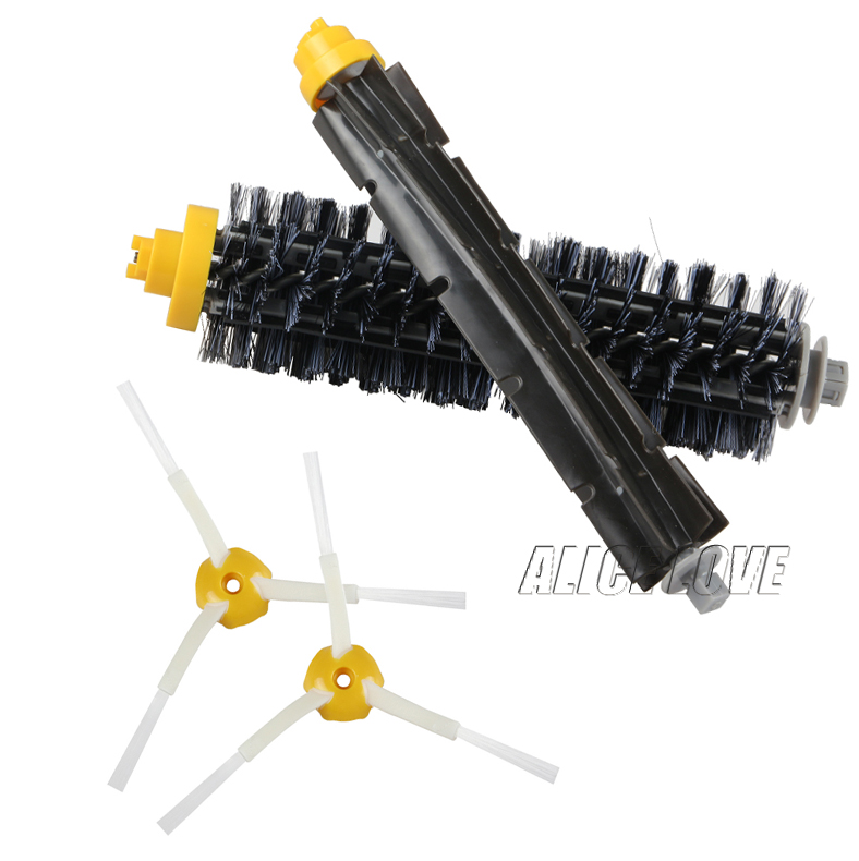 1 Bristle brush +1 Flexible Beater Brush +2 Side Brush for iRobot Roomba 600 700 Series Vacuum Cleaning Robots 760 770 780 790 flexible beater brush bristle brush for irobot roomba 500 600 700 series 550 630 650 660 760 770 780 790 vacuum cleaner parts