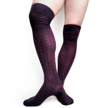 Cotton Knit Warm Winter Long socks for Men Over the Knee Sexy Thick Male Formal Dress Stocking Hose Thermal Man Stocking Sox men sexy long socks stocking black cotton over knee gentlemen formal socks hose male dress suits high quality socks