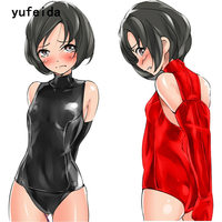 YUFEIDA Women Sexy Bodysuit Lingerie Halter Backless Faux Leather Tube Dance Bodycon Clothes Lingerie Intimate Sex