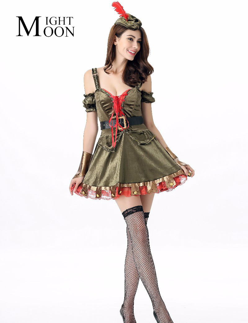 MOONIGHT Halloween Costumes Fantasy Party Women Pirate Sexy Costume Cosplay Deluxe Pirate