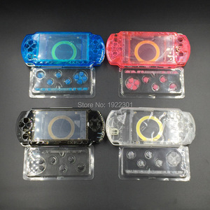 Image 1 - 4 Colors Optional Clear Full Housing Shell Cover Case Replacement for Sony PSP1000 PSP 1000 Game Console with free screwdriver