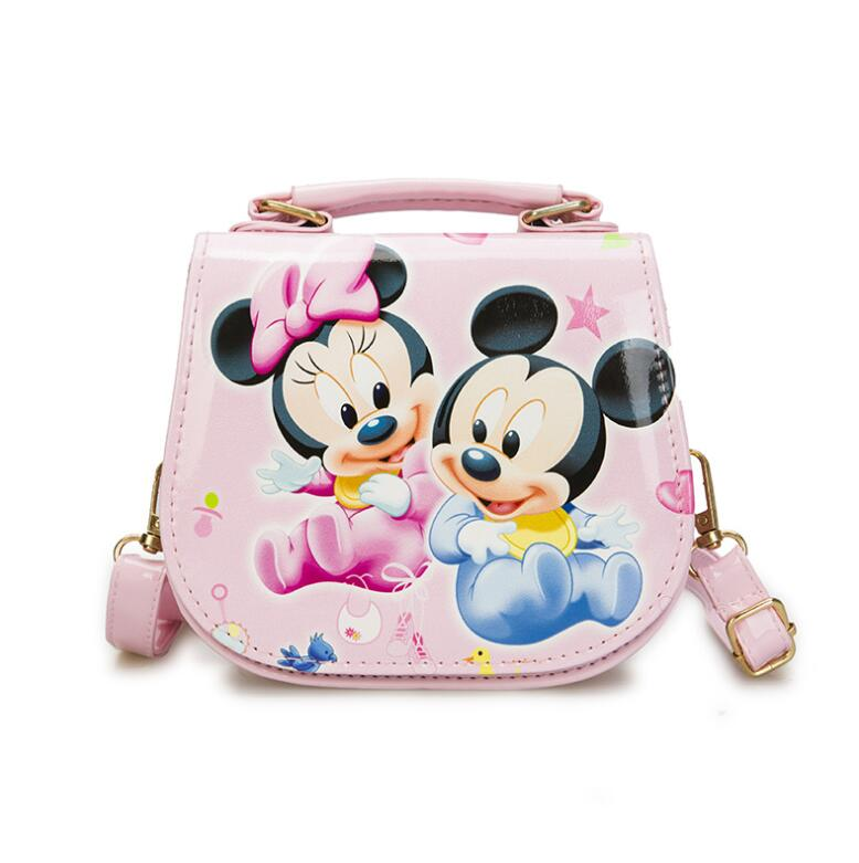 New Cute Mini Bag Children Minnie Handbag Cartoon PU Waterproof Should Bag Kids Girls Fashion Messenger Bags new cute kids tote girls shoulder bag mini bag bowknot handbag designer pu children baby tassel messenger bag women bag
