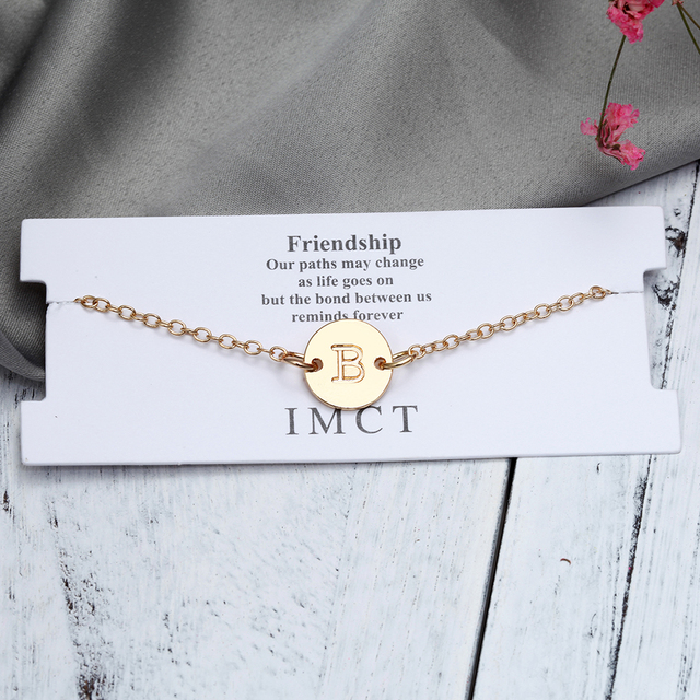 Fashion Gold Color Letter Bracelet & Bangle  4