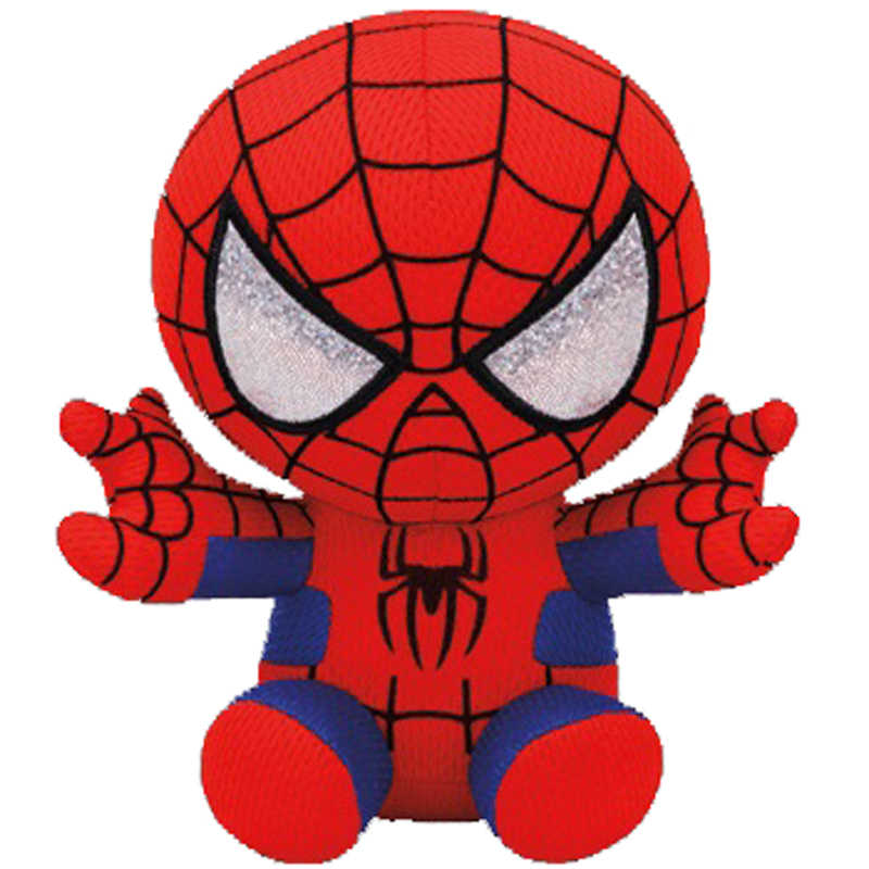 "Ty Vaias Gorro Stuffed & Plush Marvel Super Hero Spiderman Boneca De Brinquedo 6 ""15 centímetros"