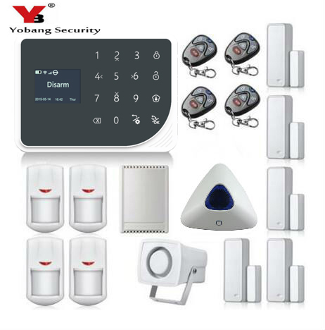 YoBang Security 433MHZ Home Wireless Security System GPRS Wireless GSM Security System And IOS Android APP Control Relay Output ...