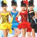 Latin Dance Dress For Girls Samba Dress Ballroom Kids Dancing Dress Girl Dancewear Ballet performance costumes one piece dress