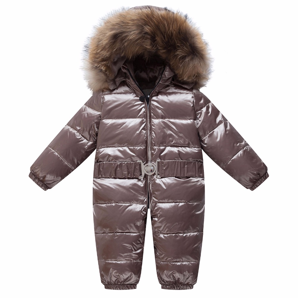 Newborn Baby Clothes Winter Snowsuit Infant Duck Down Jumpsuit Toddler Romper Fur Baby Onesie Kids Parka Coveralls Girl Overall 2017 toddler kids infant baby clothes girl backless floral strap romper jumpsuit cute baby girl clothes baby onesie outfit