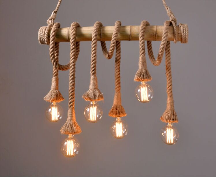 Vintage Rope Pendant Light Lamp Loft Creative Personality Industrial Lamp Edison Bulb American Style For Living Room american edison loft style rope retro pendant light fixtures for dining room iron hanging lamp vintage industrial lighting