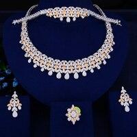 missvikki New Fashion Element Hollow Flower Bead Necklace Jewelry Accessories Charm Bride Wedding Jewelry Sets Drop Shipping