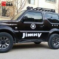 2pcs For Suzuki Jimny Off Road Full Car Sticker Body Refit Lahua JIMNY Car Door Star Sticker Decorative Sticker