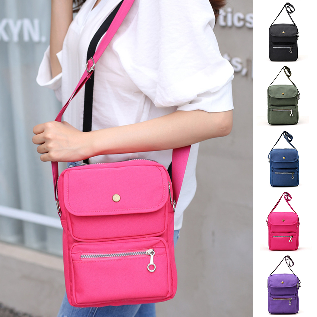 2018 Fashion Leather Travel Vintage Men Casual Business Bag Canvas Handbag Men Shoulder Bag Small Crossbody Bag Freeshipping