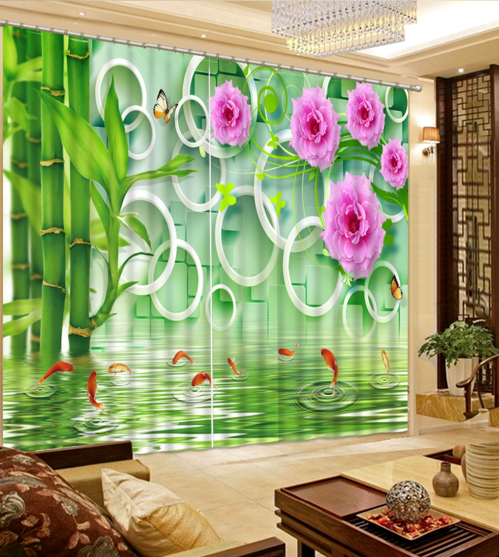 Any size Simple Curtains Stereoscopic Fish flower Blackout Window Curtain Large Curtains room Fashion Window Decoration     Any size Simple Curtains Stereoscopic Fish flower Blackout Window Curtain Large Curtains room Fashion Window Decoration