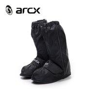 ARCX Motorcycle Waterproof Rain Shoes Covers Adjustable Tightness Reusable Waterproof Non slip Rain Black Shoes Boots Cover