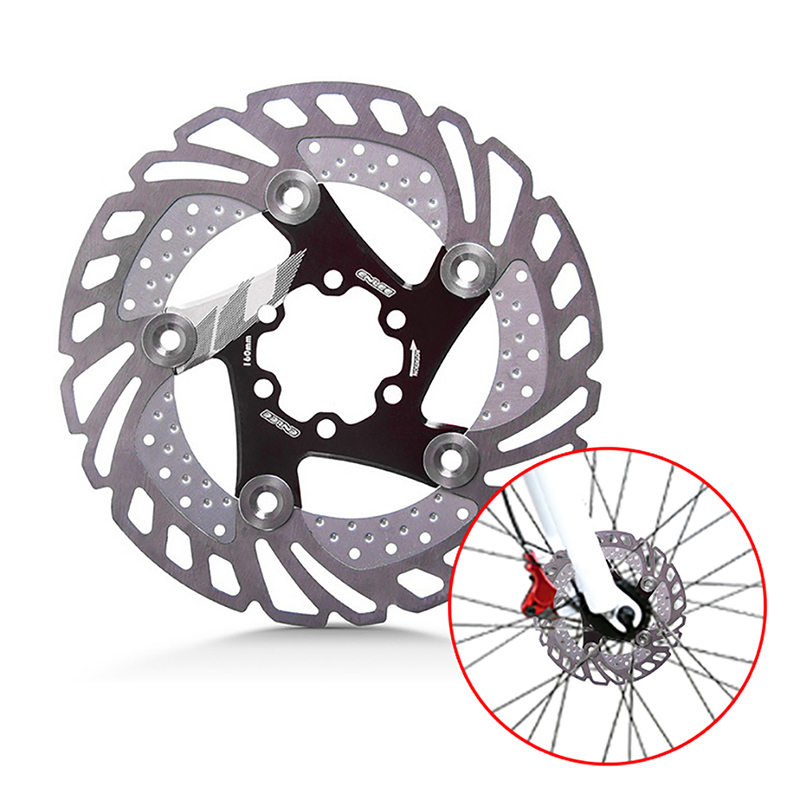 цена на 160mm Down Hill Floating Bicycle Brake Six Nail Disc MTB Mountain Bike Cooling Brake Rotors Bicycle Accessories