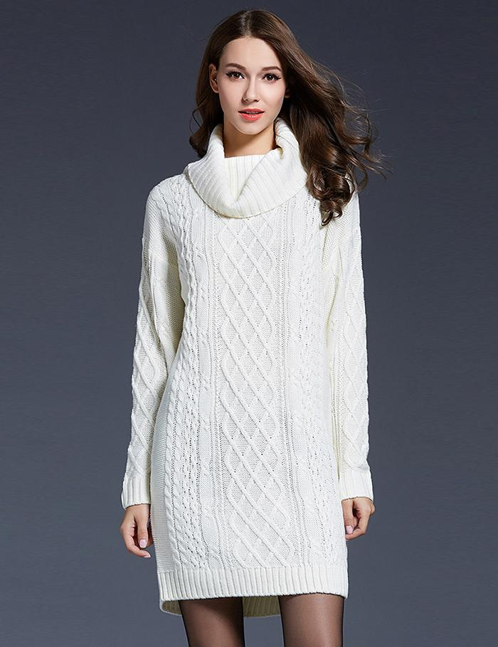 Winter Long Sweaters Women 2017 Knitted Turtleneck Sweater Christmas Solid Long Sleeve Women Sweaters Pullovers pull femme hiver