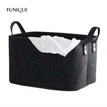 FUNIQUE Modern Quality Felt Toy Book Storage Box Foldable Laundry Basket Dirty Clothes Hamper Holder Storage Basket Home Textile(China)