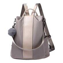 75408f788 2018 nueva moda de alta calidad casual señora mujeres bolso mochila  antirrobo impermeable mochila ligero escuela