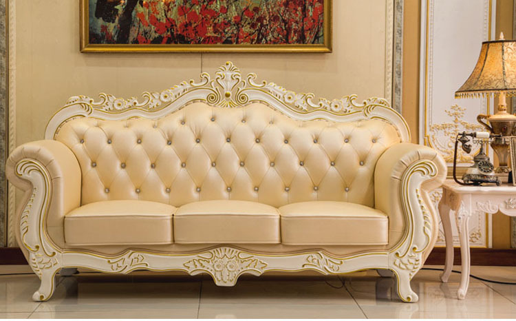 2017 French Luxury European Style Dermal Sofa Sitting Room Cloth Art Bed Sofas Set Living Furniture Couch In From