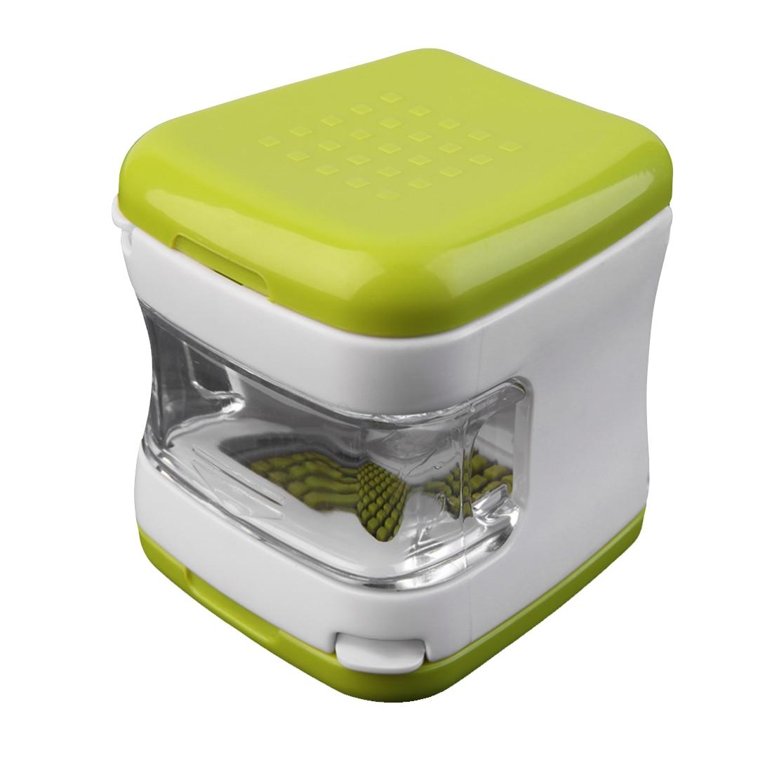 Práctica multifunción de plástico prensa de ajo trituradora rebanadora Ralladora rebanadora y almacenamiento cocina herramienta vegetal