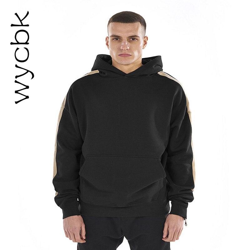 Wycbk 2017 sweat à capuche pour homme à rayures Cool sweat à capuche pour homme Hip Hop sweat-shirts Cool garçon polaire pull à capuche en haute qualité livraison gratuite