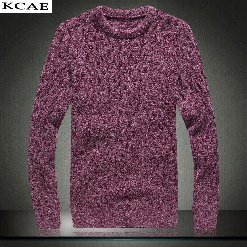 2016 New Autumn Fashion Casual font b Sweater b font O Neck Twist braid Slim Fit