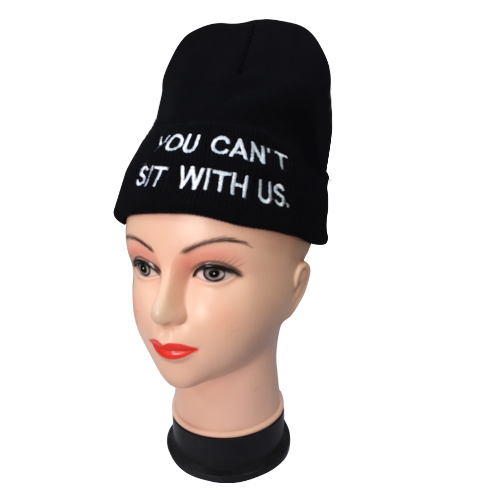 London Boy Winter Cap Korea Style Personality Wool Knitted Hat With Print you cant sit with us Beanie Hat LB cap icb london cap