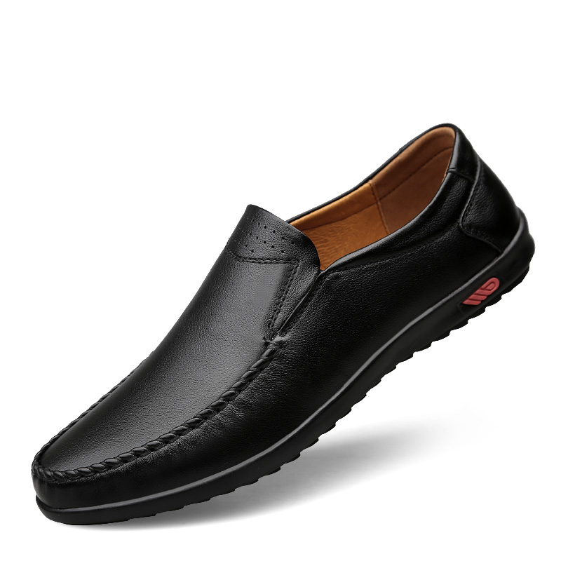 2018 new Genuine Leather Mens Shoes Casual Luxury Brand Men Loafers Fashion Breathable Driving Shoes Slip On Moccasins 5 2017 autumn new men shoes genuine leather loafers slip on breathable dress shoes moccasins fashion brand soft leather flat shoes