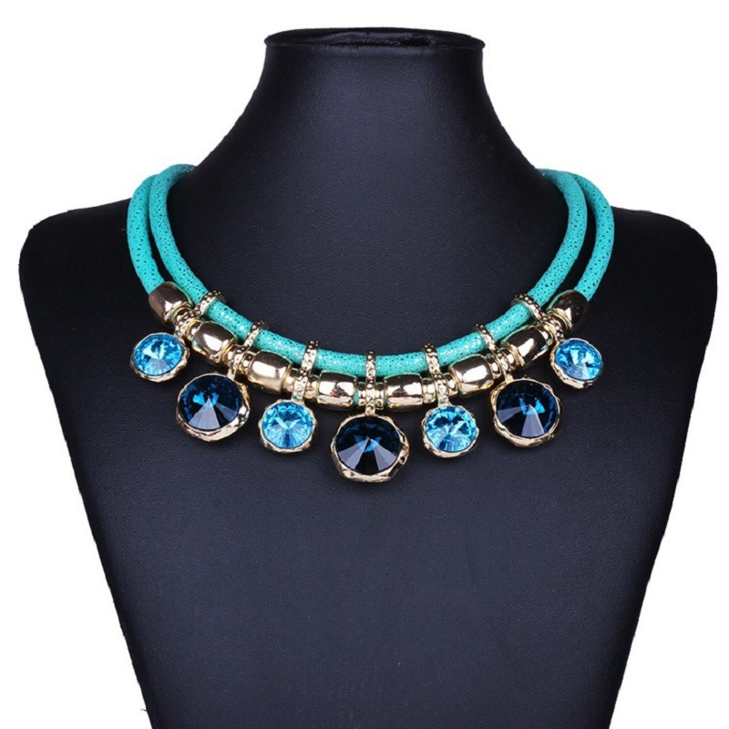 design geometrical round suspension hot selling new fashion necklace necklace statement jewelry for women