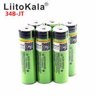 2019 LiitoKala 18650 3400mah 3000mah 100% Original 3.7V NCR18650B 18650 3400 Rechargeable Batteries for Flashlight for
